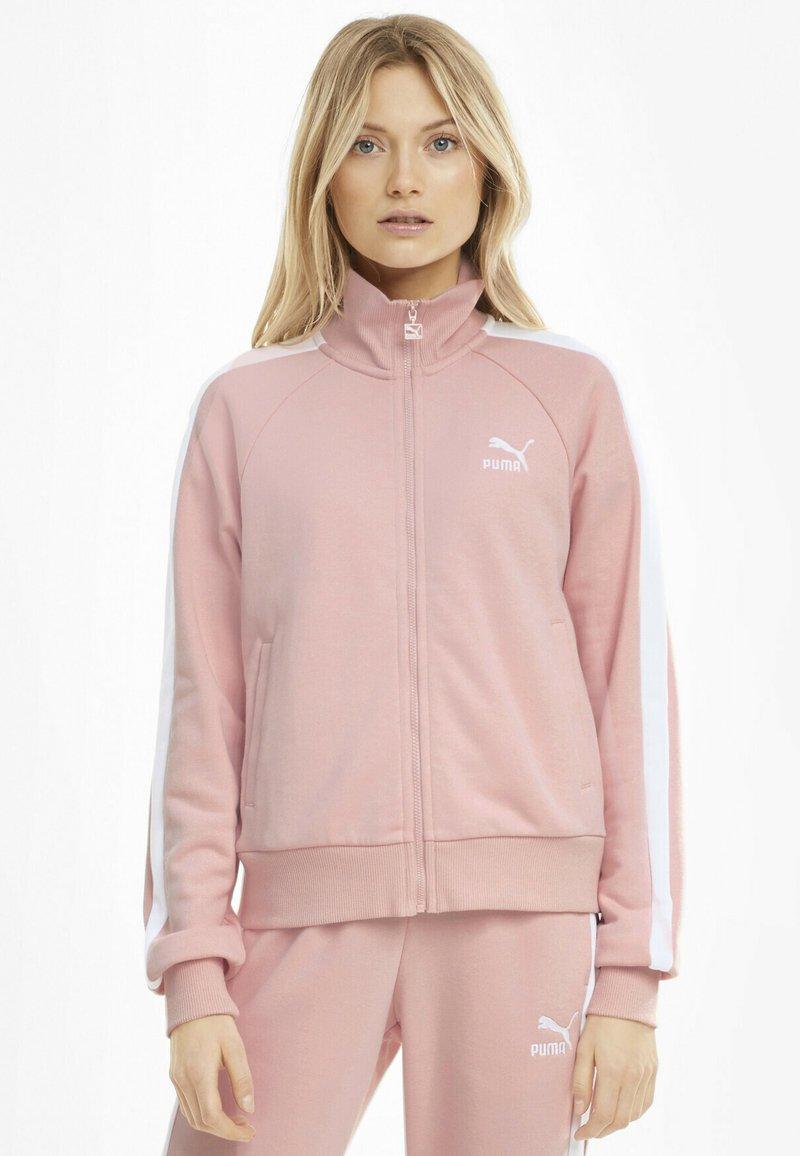 Puma - ICONIC T7 - Zip-up hoodie - peachskin
