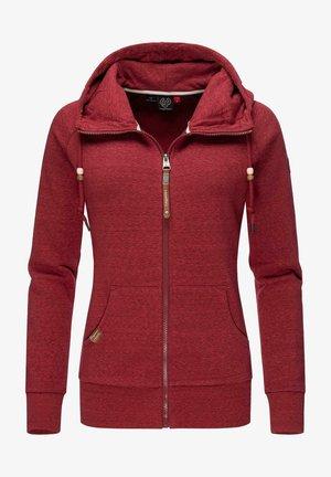 Zip-up sweatshirt - wine red