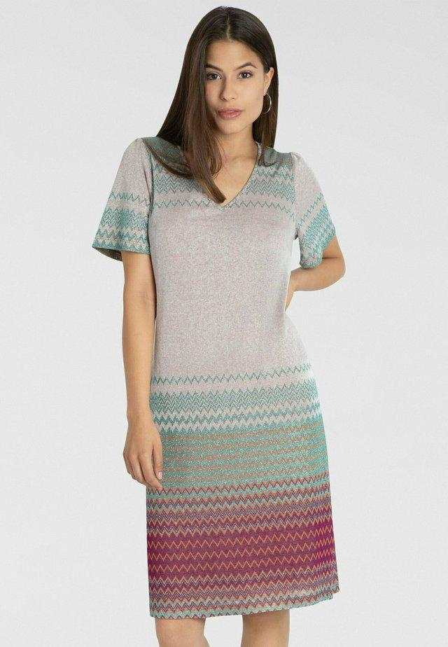 Korte jurk - puder-multicolor