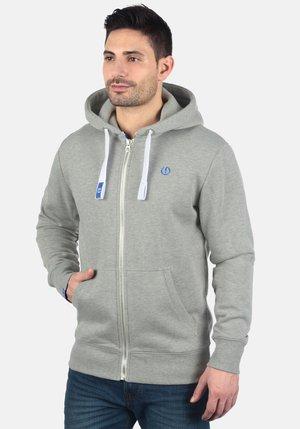BENN - Zip-up sweatshirt - light grey melange