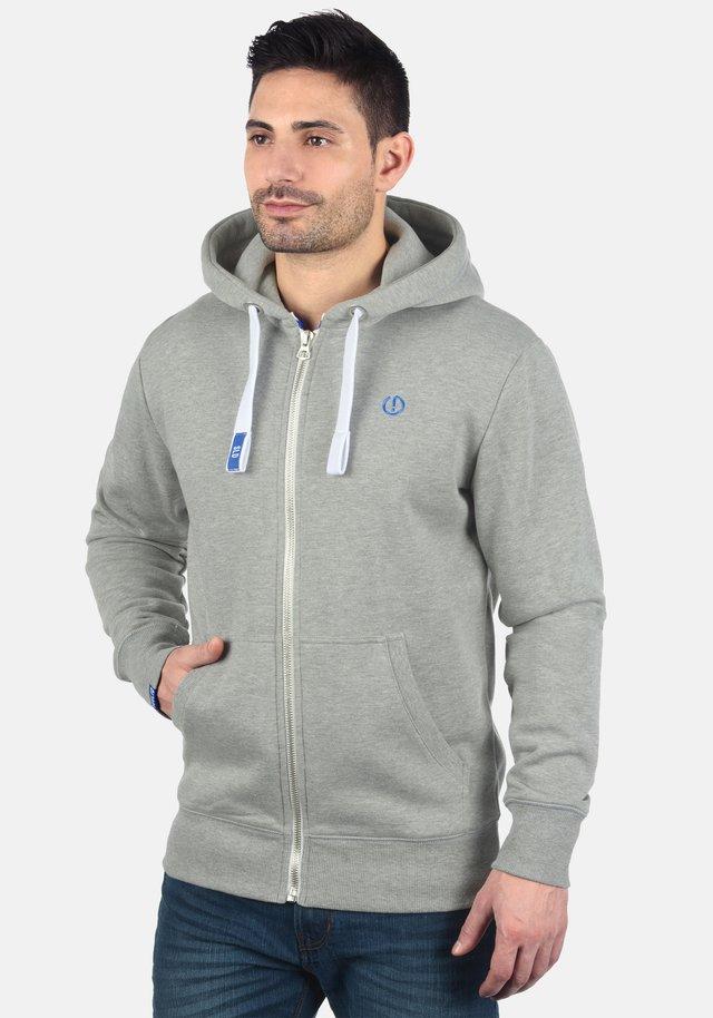 BENN - Hoodie met rits - light grey melange
