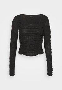 RITA - Top sdlouhým rukávem - black