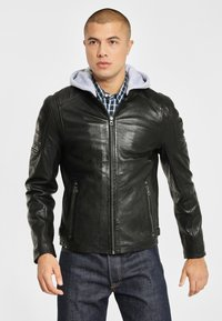 Gipsy - RYLO LAKEV - Leather jacket - black - 0