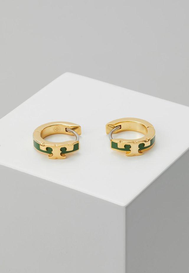 KIRA STACKABLE HUGGIE HOOP EARRING - Orecchini - gold-coloured/arugula