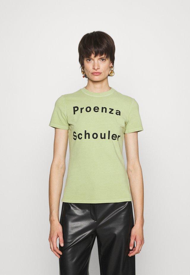 SOLID LOGO  - T-shirt imprimé - spanish moss