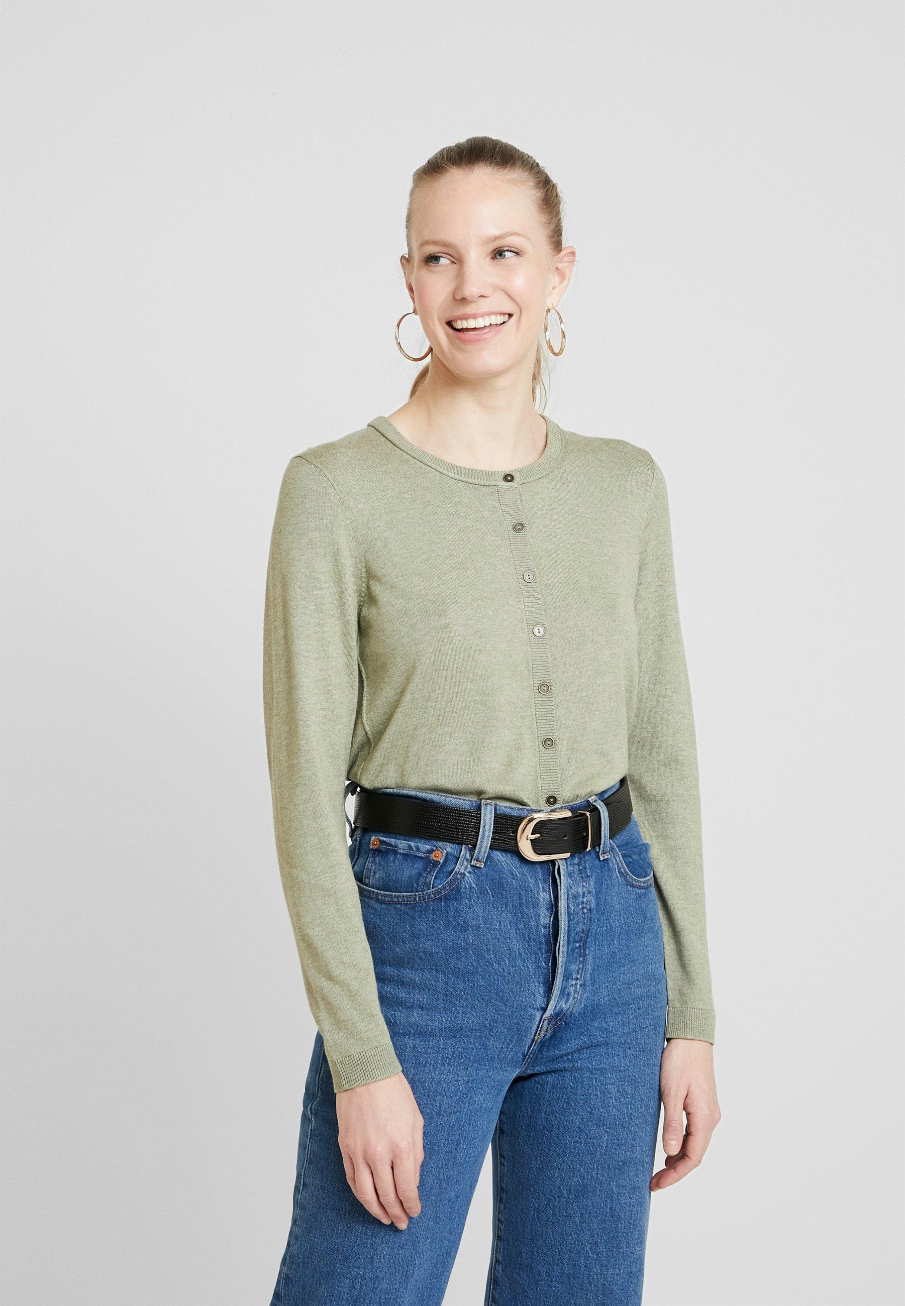 Women BASIC - Cardigan - khaki green