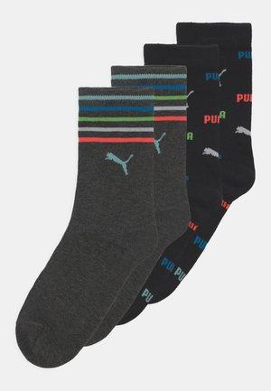 CHILDREN LOGO 4 PACK UNISEX - Socks - black/grey melange