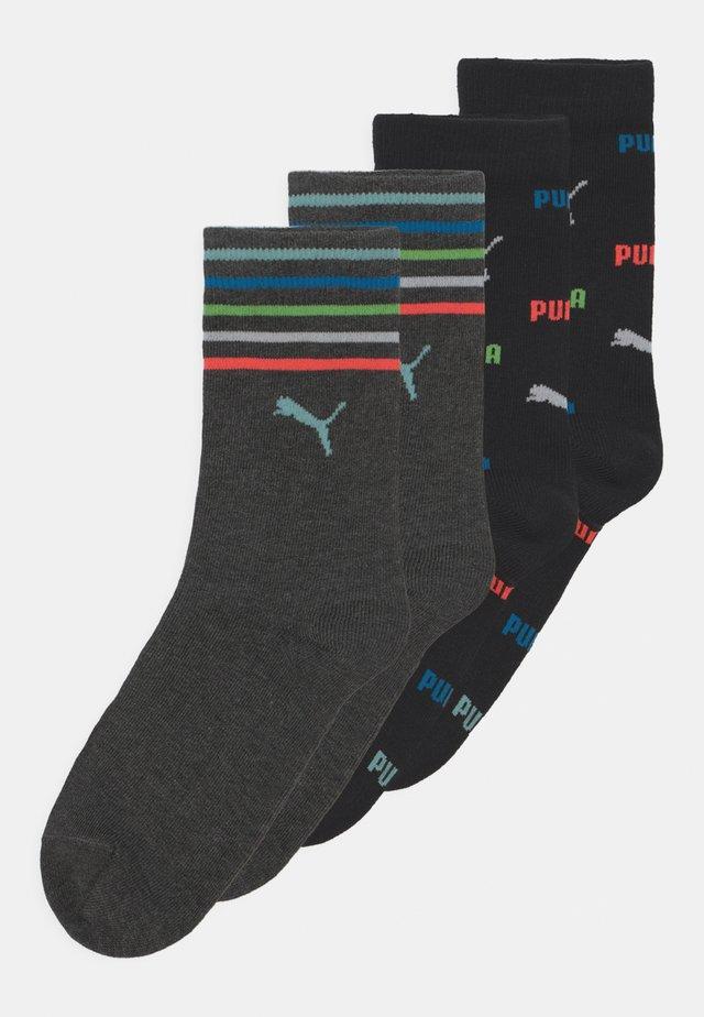 CHILDREN LOGO 4 PACK UNISEX - Ponožky - black/grey melange