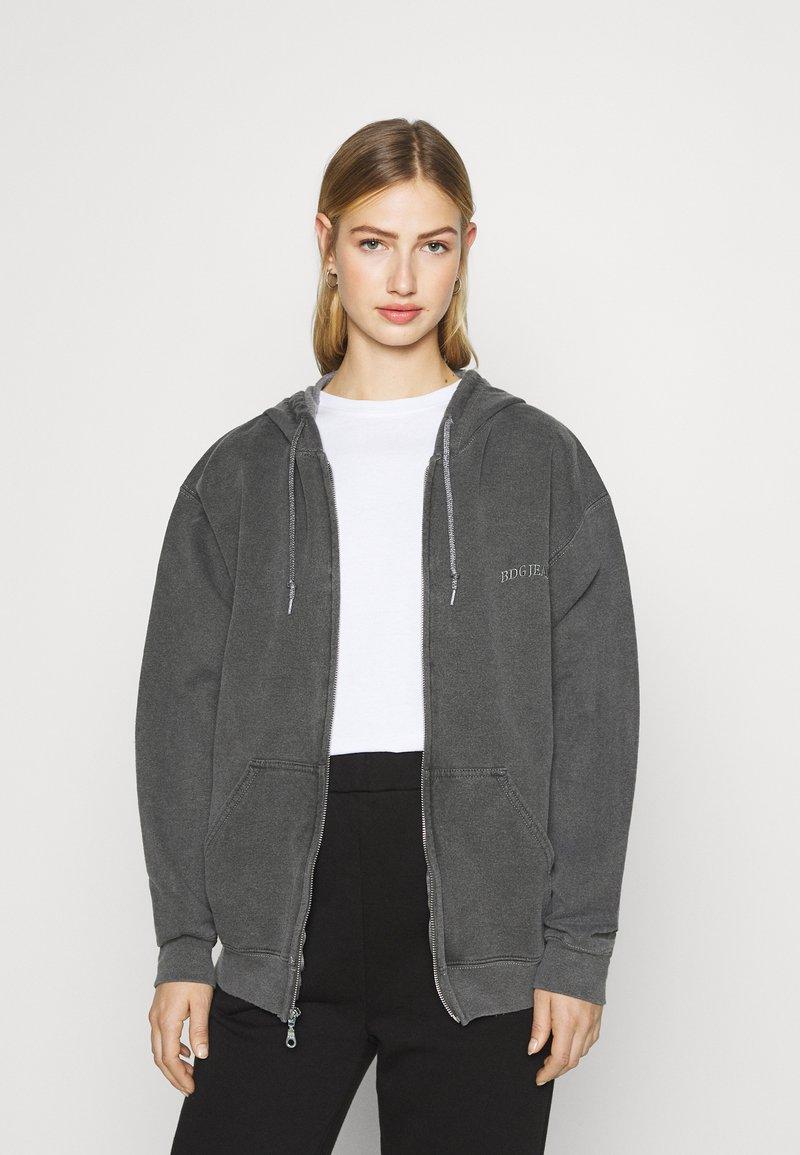 BDG Urban Outfitters - ZIP UP HOODIE - Hoodie - charcoal