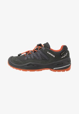 ROBIN GTX LO - Hiking shoes - graphit/orange