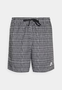 FLOW GRID - Shorts - black/white