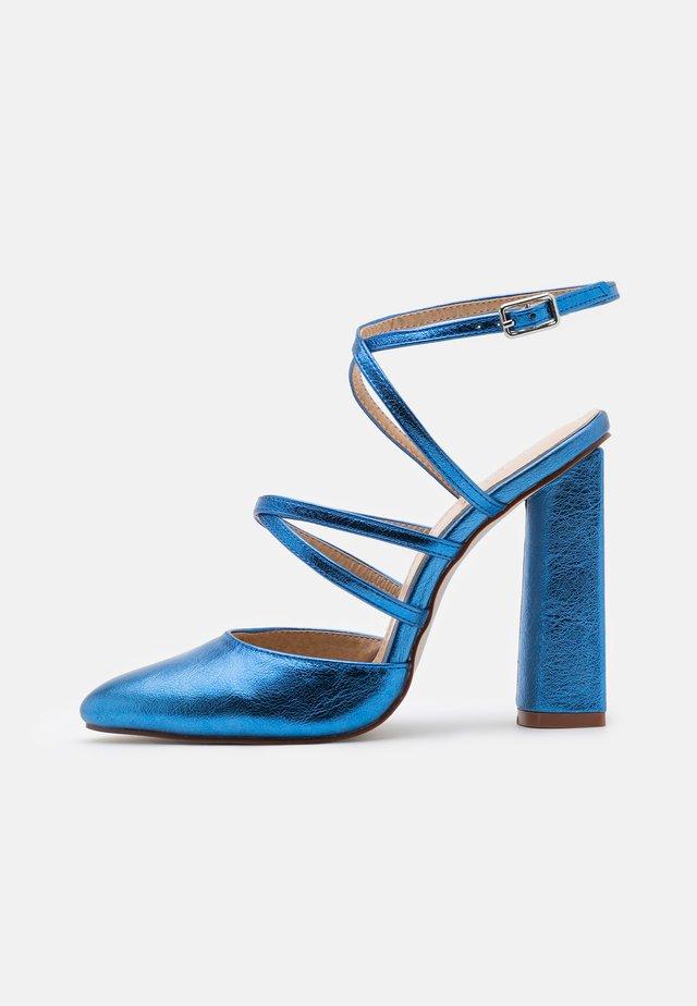 JUNA - Kotníková obuv na vysokém podpatku - blue