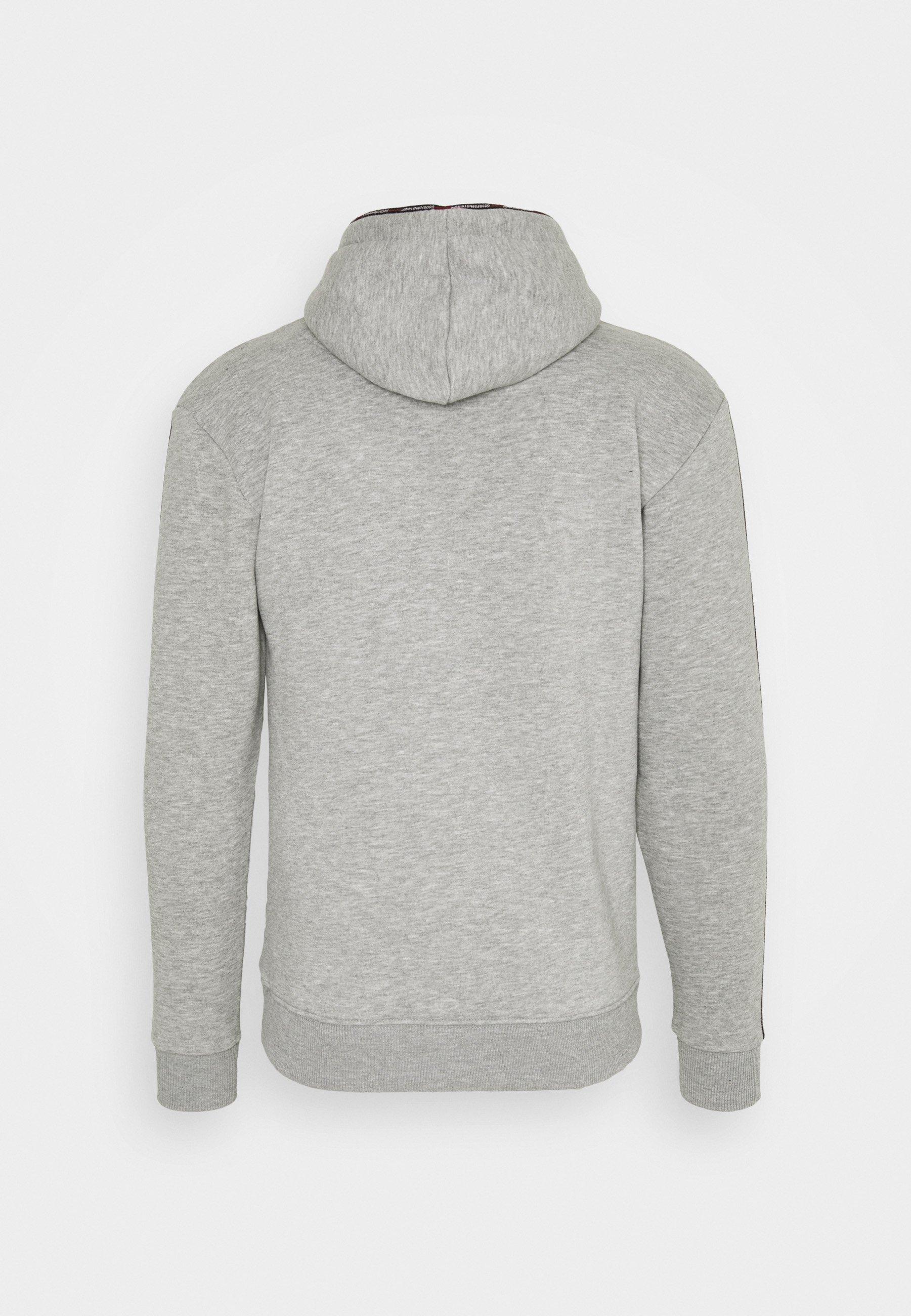 Homme FITTED GREY MICRO TAPED BRANDED HOOD - Sweatshirt