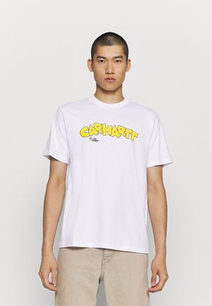LOONY SCRIPT - Print T-shirt - white