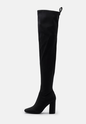 SQUARE TOE BOOTS - Kozačky na vysokém podpatku - black