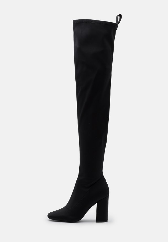 SQUARE TOE BOOTS - High heeled boots - black