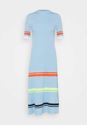 STRIPE DETAIL SOFT SUMMER DRESS - Jersey dress - pale blue