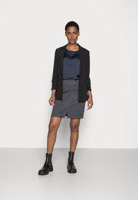 Esprit - JAQUARD SKIRT - Pencil skirt - grey/blue - 1