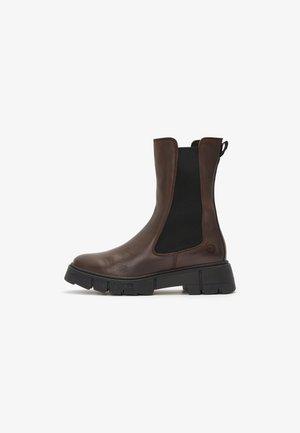 Stivali alti - dk brown/black