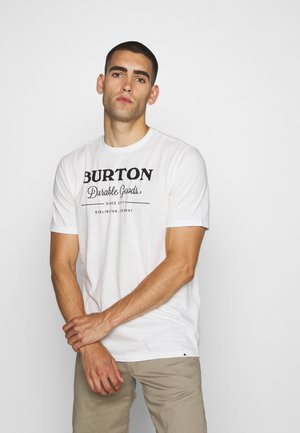 DURABLE GOODS - T-shirt z nadrukiem - stout white