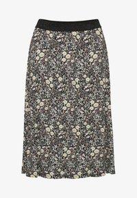 Kaffe - A-line skirt - black w.daisy flowers - 4