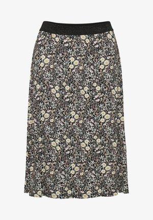 A-line skirt - black w.daisy flowers