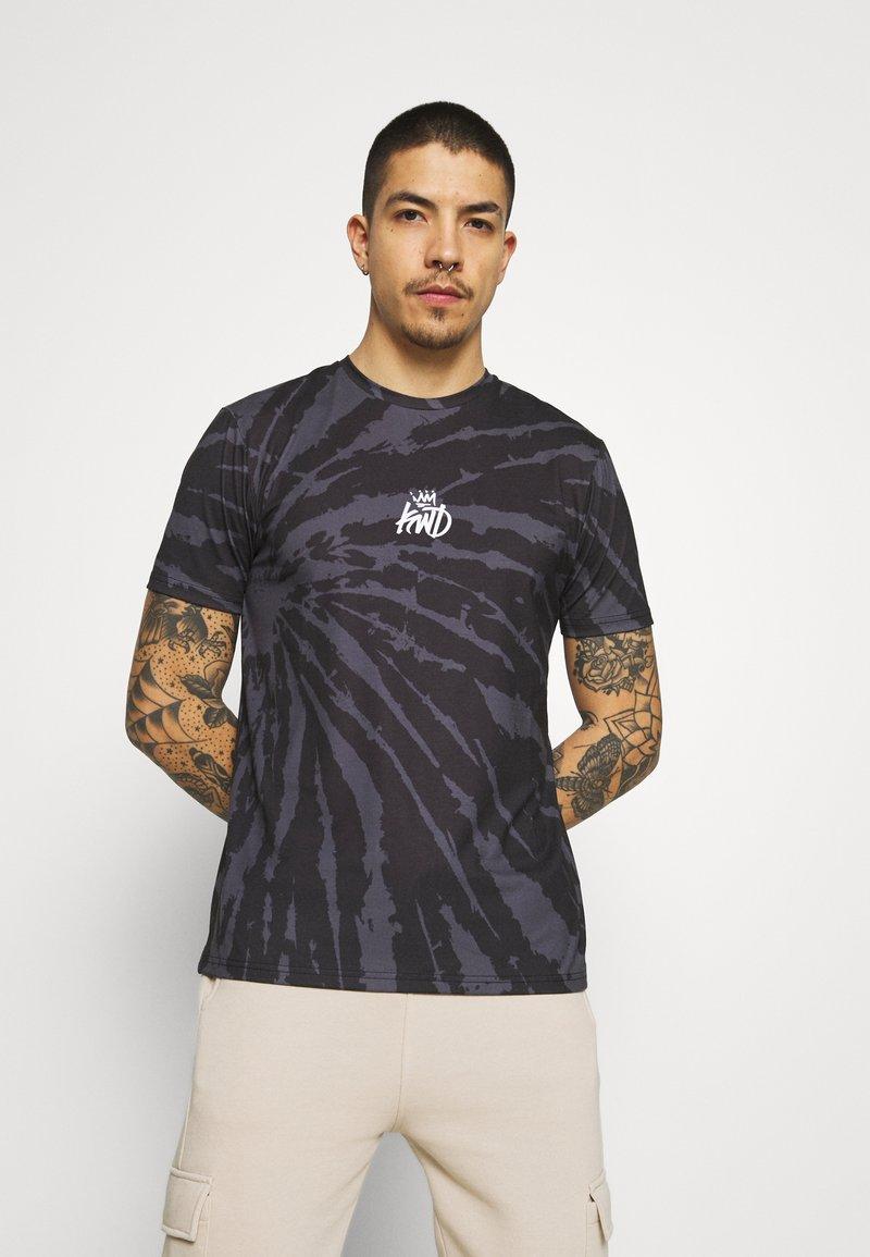 Kings Will Dream - AVALON TIE DYE TEE - T-shirt imprimé - light grey/mid grey