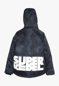 SuperRebel - SKI TECHNICAL JACKET ALL OVER - Snowboardová bunda - grey/blue - 1