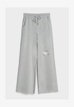 SCHLAG AUS PLÜSCH - Pantaloni sportivi - light grey