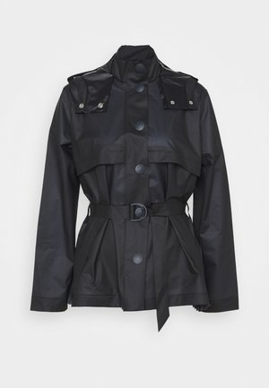 WOMENS REFINED PART PLEAT JACKET - Vodotěsná bunda - navy