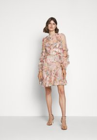 Needle & Thread - FLORAL DIAMOND RUFFLE DRESS - Cocktailkjole - topaz pink - 1