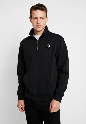 ZIP SWEATSHIRT REVERSED - Sweatshirt - black