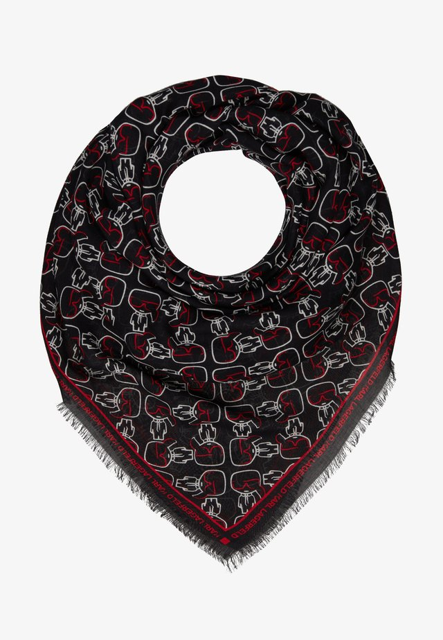 IKONIK OUTLINE SCARF - Chusta - black