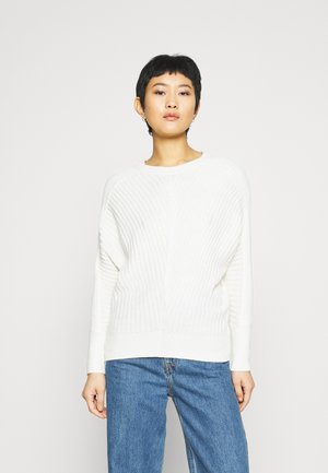 BATWING CREW NECK - Sweter - ivory