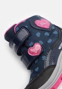 Geox - FLANFIL GIRL WPF - Winter boots - navy/fuchsia - 5