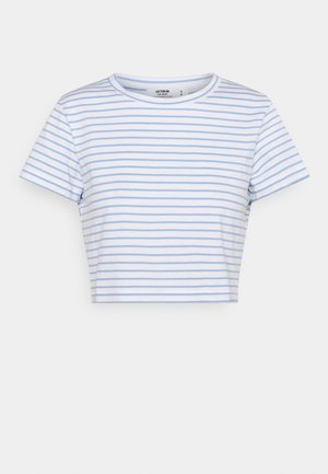 THE BABY TEE - T-shirt med print - white/poolside blue