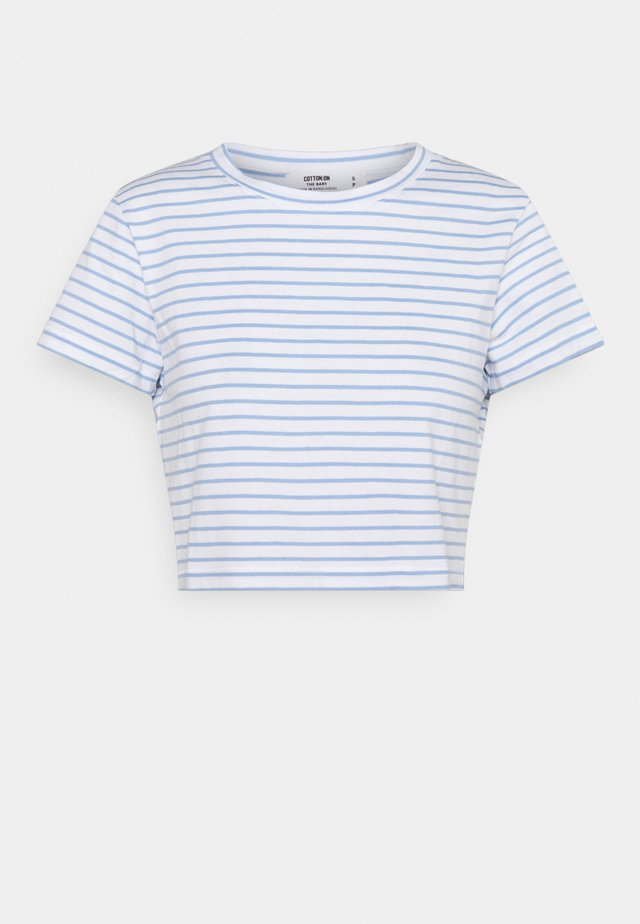 THE BABY TEE - Triko s potiskem - white/poolside blue