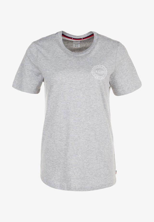 Camiseta estampada - heather grey/white