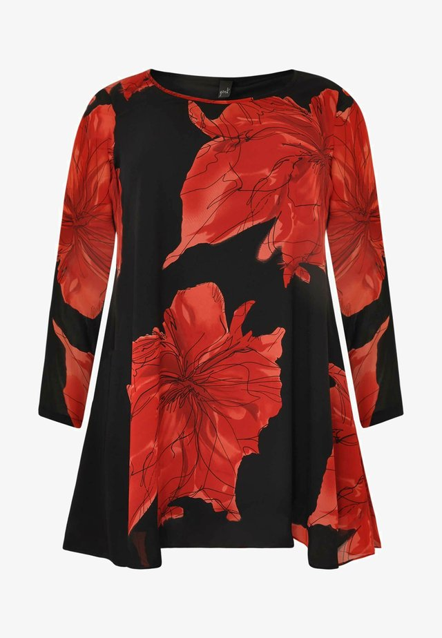 FLORAL PRINT - Tunic - red