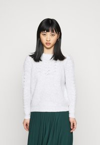 Dorothy Perkins Petite - POINTELLE CABLE  - Jumper - light grey - 0