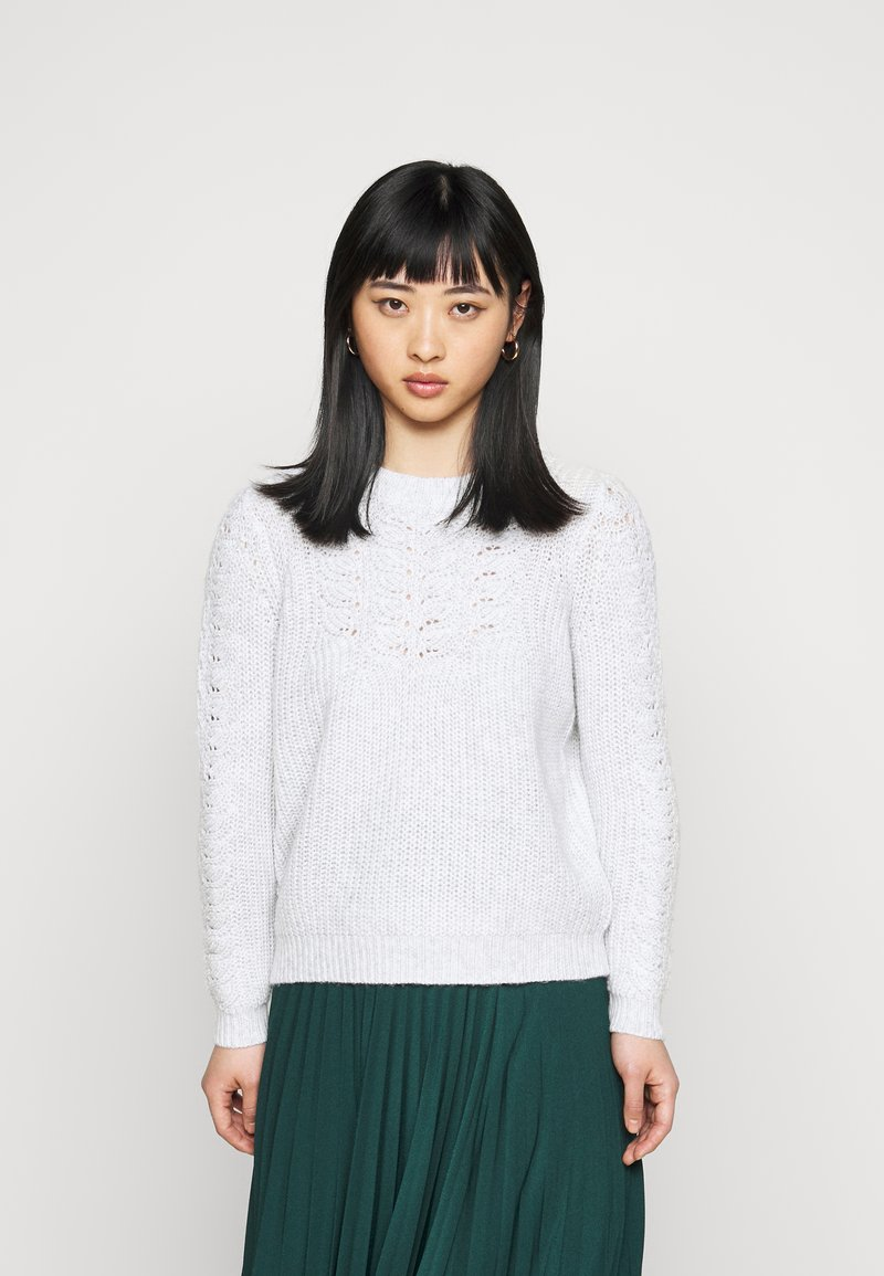 Dorothy Perkins Petite - POINTELLE CABLE  - Jumper - light grey