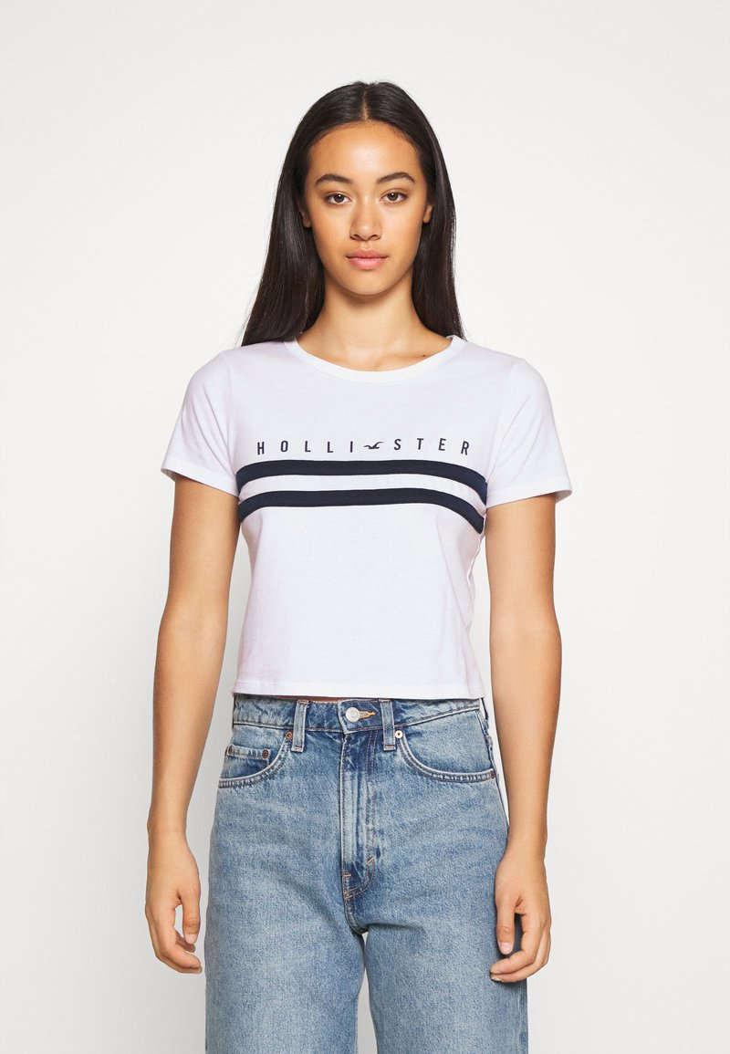 Hollister Co. - TUCKABLE SPORTY - Print T-shirt - white