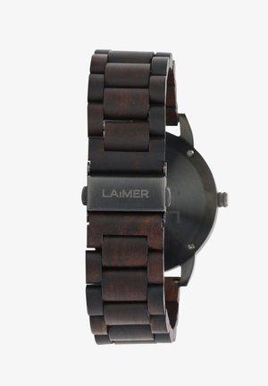 LAIMER QUARZ HOLZUHR - ANALOGE ARMBANDUHR EDUARD - Watch - black