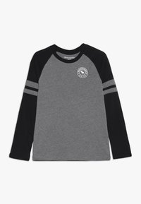 Abercrombie & Fitch - FOOTBALL TEE - Langærmede T-shirts - grey/black - 0