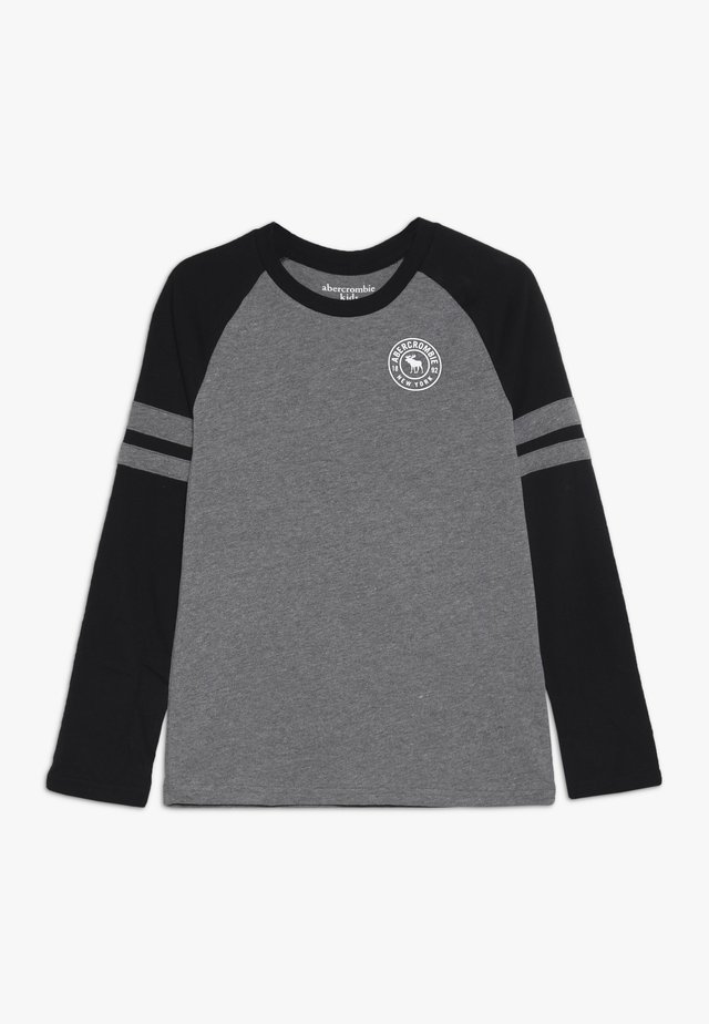 FOOTBALL TEE - Long sleeved top - grey/black