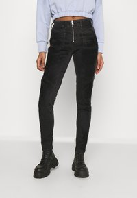 Diesel - SLANDY-BKX-H-SP - Jeans Skinny Fit - black velvet - 0