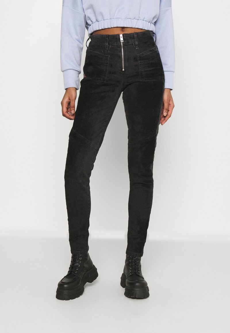 Diesel - SLANDY-BKX-H-SP - Jeans Skinny Fit - black velvet