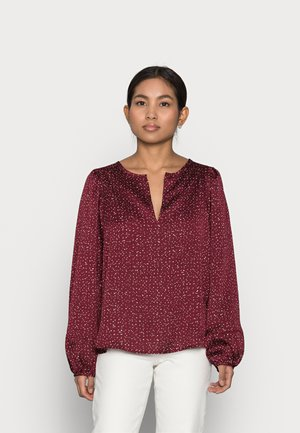 SPLIT BLOUSON  - Blouse - burgundy