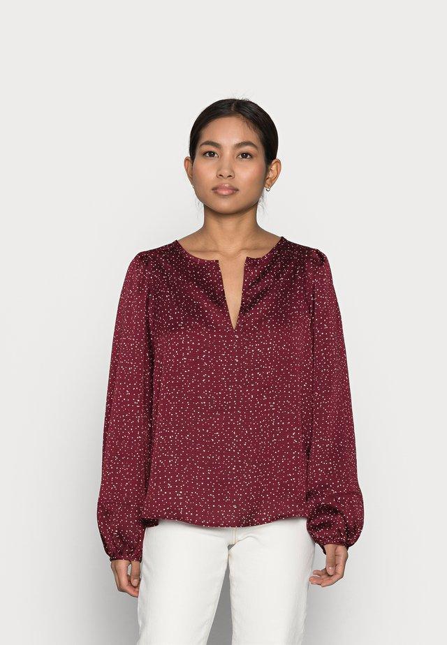 SPLIT BLOUSON  - Blus - burgundy