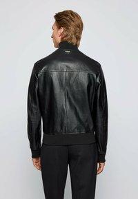 BOSS - NAFAN - Leather jacket - black - 2